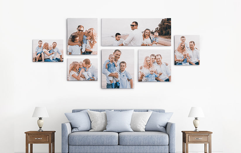 My//Your Image//Photo Picture Printed to a Rolled PANORAMIC Canvas Different Sizes