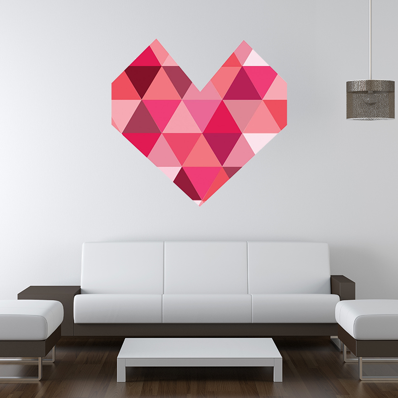 Pink Heart Wall Decal