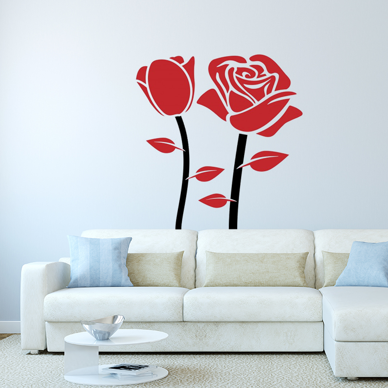 Rose Beautiful Wall Decals