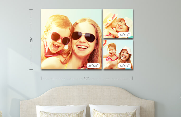 Canvas Photo Wall Display