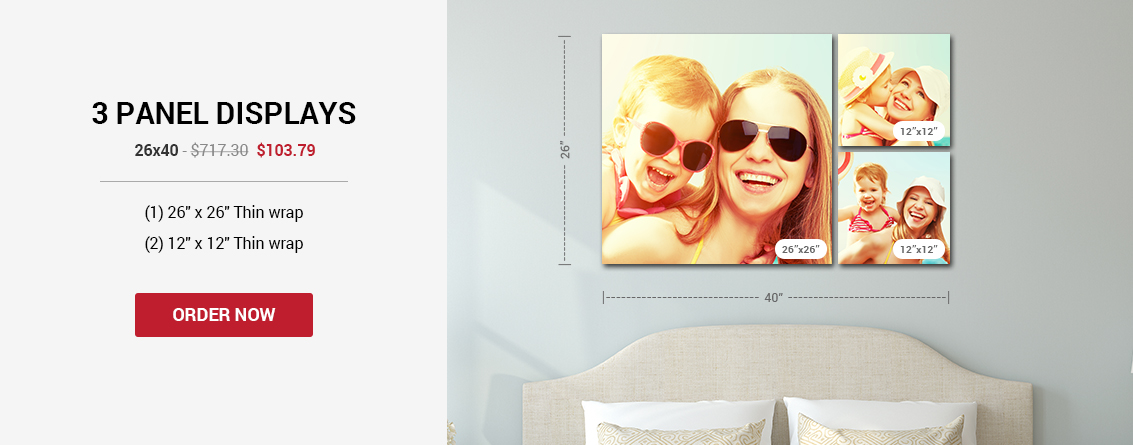 3 Panel - Canvas Wall Displays