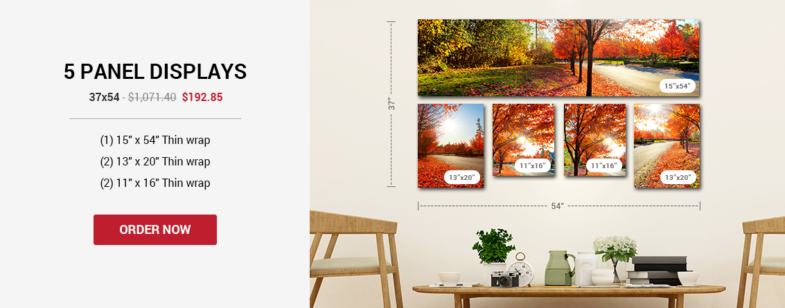 5 Panel - Canvas Wall Displays