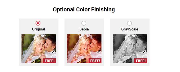 Optional Color Finishing