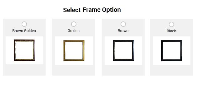 select frames options