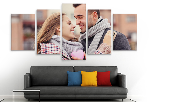 Split canvas pictures prints