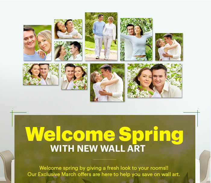 Welcome Spring with new Canvas Wall Art