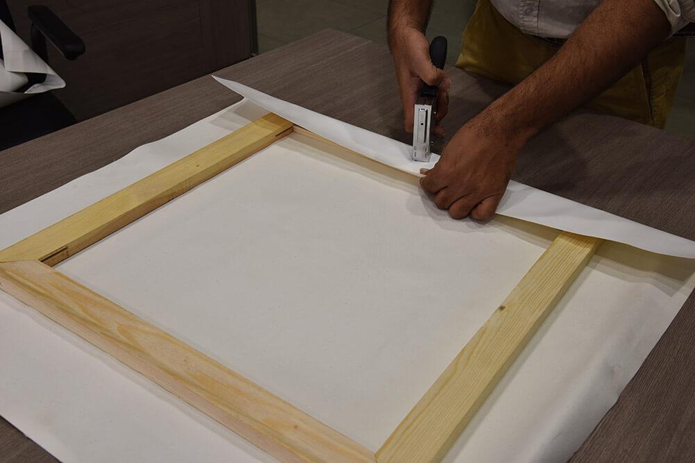 Orientation of wooden frame