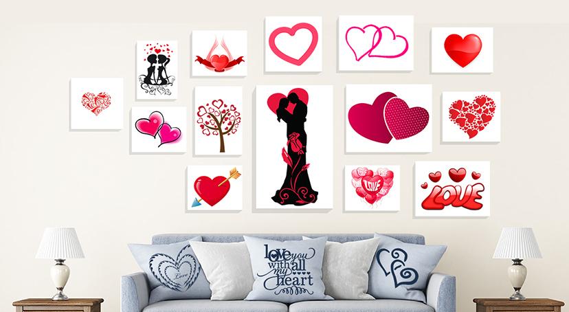 Heart Shape Canvas Prints