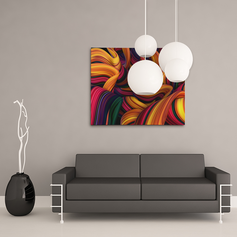 Easy Abstract On Canvas Print