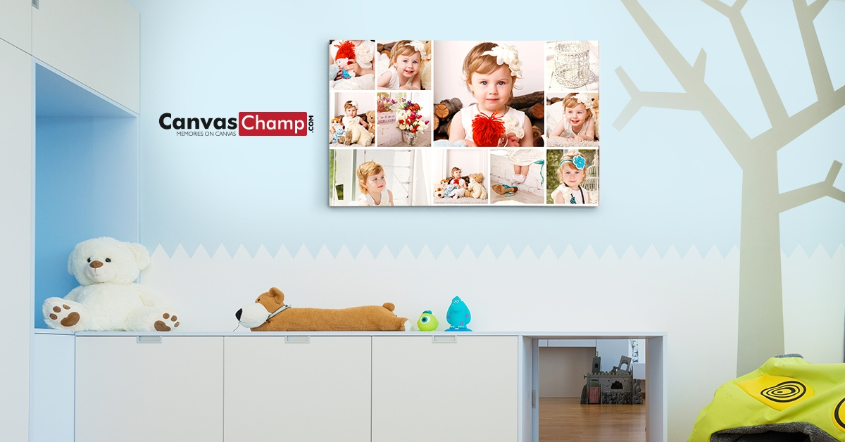 baby canvas wall display