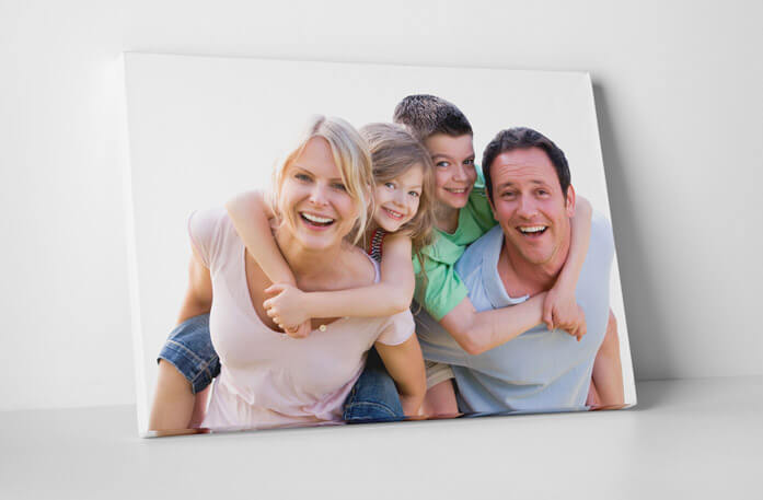 Family canvas photo