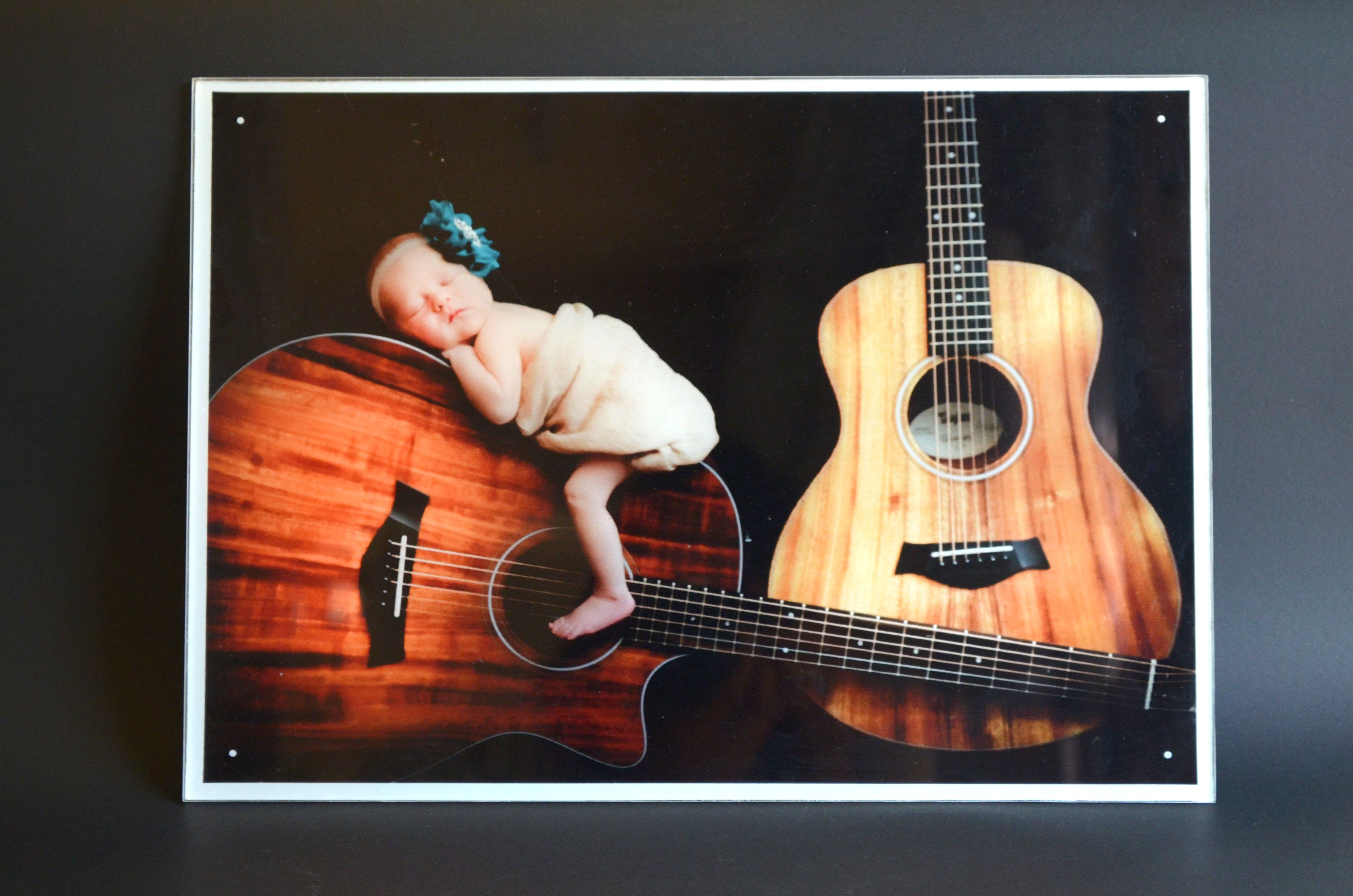 newborn baby photo acrylic print