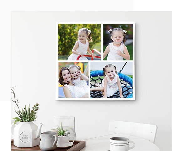 4 Piece canvas Photo Collage