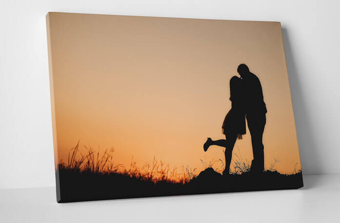 Personalized couple's photograph on canvas