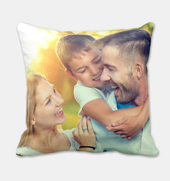 Custom photo throw pillows