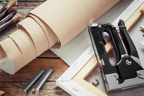 How photo canvas prints are constructed