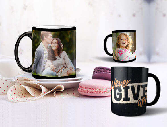 Rise and Shine With Personalized Magic Photo Mugs Featuring Your Photos and Text