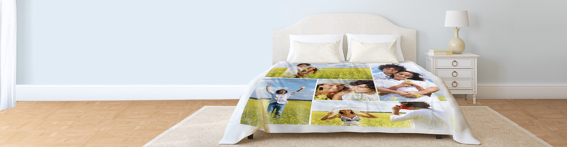 Personalised Memory Blanket Soft Fleece Printed With Name /& DOB Your Own Photos